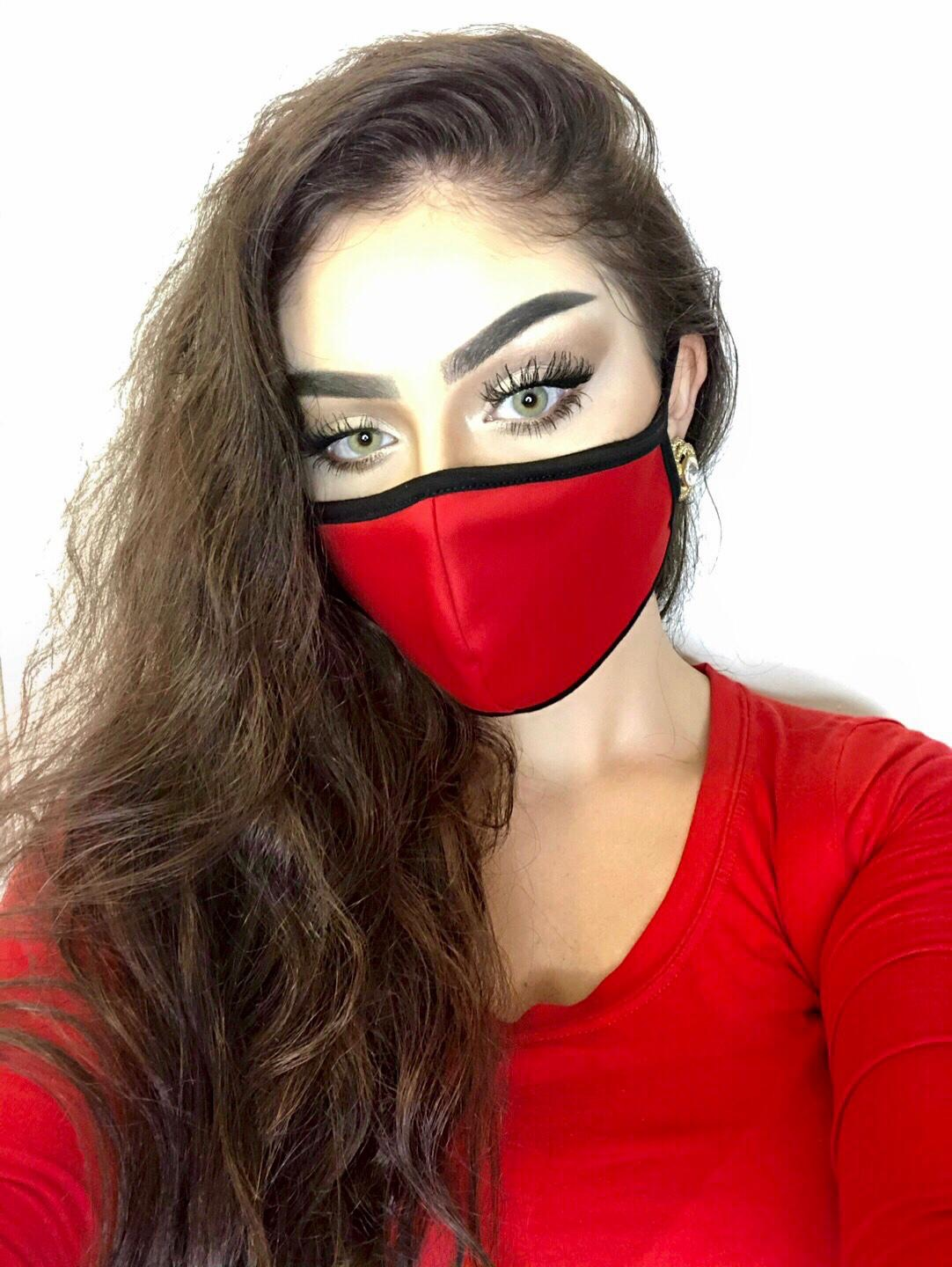SOCIAL DISTANCING MASK (RED)
