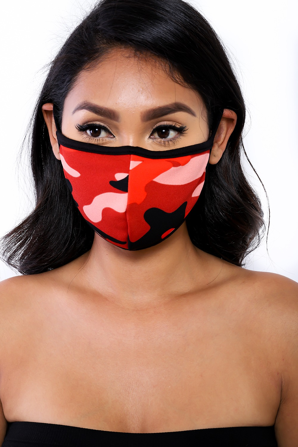 SOCIAL DISTANCING MASK (RED CAMO)