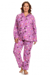 100% COTTON PAJAMAS IN PEACE PRINT