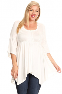 EMPIRE WAIST TOP IN IVORY