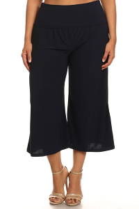GAUCHO PANTS IN  NAVY