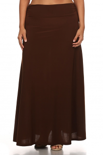 MAXI SKIRT IN BROWN