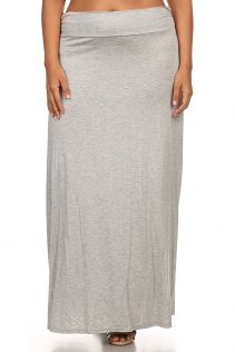 MAXI SKIRT IN HEATHER GRAY