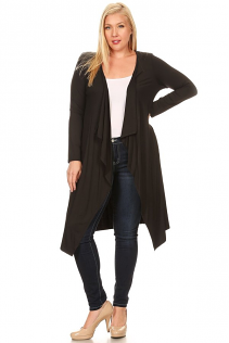 JASMINE OPEN CARDIGAN IN BLACK