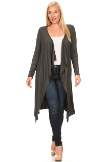 JASMINE OPEN CARDIGAN IN GRAY