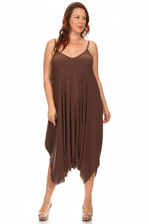 CANARI HAREM JUMPSUIT IN BROWN
