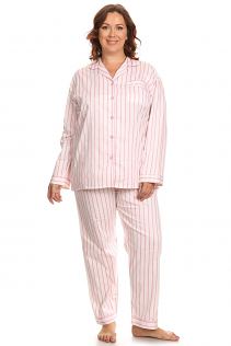 100% COTTON PAJAMAS IN PINK STRIPES
