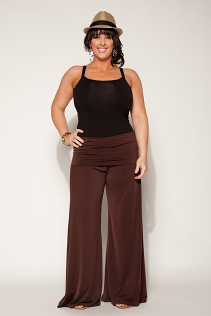 PALAZZO PANTS IN BROWN