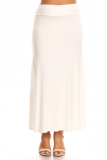 MAXI SKIRT IN IVORY