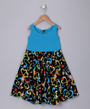 BLUE HEARTS SPINING DRESS