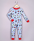 100% ORGANIC COTTON BOYS PAJAMAS - TRAINS