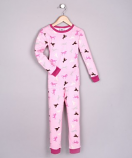 100% BABY RIBBED ORGANIC COTTON PAJAMAS - HORSES