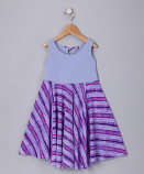 LILAC STRIPED SPINING DRESS