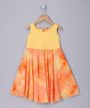 YELLOW TI DYED SPINING DRESS