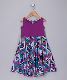 PURPLE JACQARD SPINING DRESS
